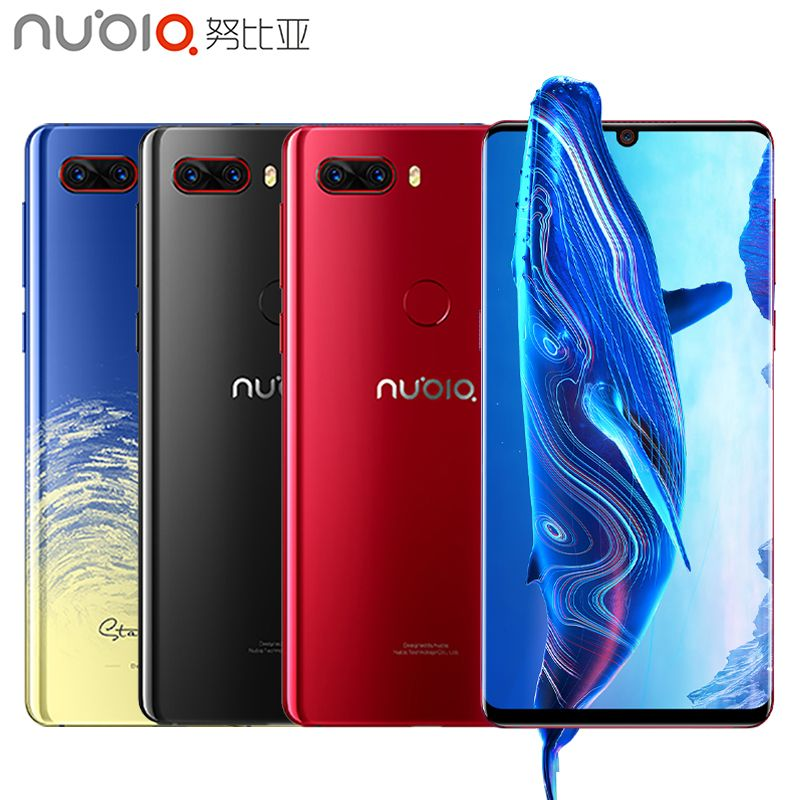 Original Nubia Z18 Mobile Phone 5.99 Water Drop Screen 6GB RAM 64GB ROM Snapdragon 845 Octa Core Android 8.1 3450mAh Smartphone