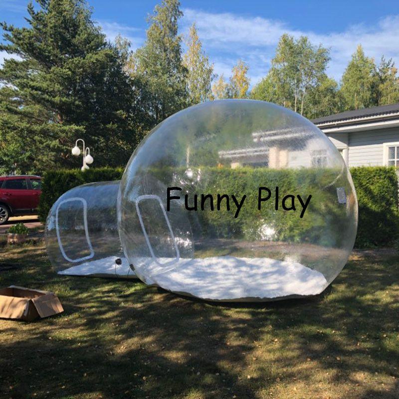 Aufblasbare Blase Zelt, Aufblasbare Rasen Dome wandern Zelte, Aufblasbare Transparentcamping Zelte, deutschland werbung aufblasbare zelt