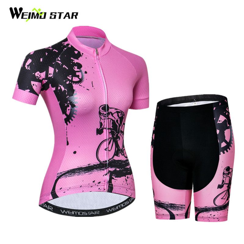 Weimostar Women Cycling Jersey Set pro team Bicycle Cycling Clothing Summer Quick Dry mtb Bike Jersey Wear Clothes Ropa Ciclismo