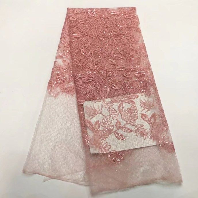 jy-11-10!!African lace fabrics embroidered   high quality tulle french net lace fabric for wedding party dress!