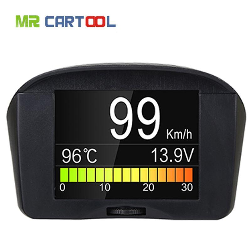 AUTOOL X50+ Water Temperature Gauge Digital Voltage Meter Tachometer Speed Display Multi-Function Car OBD Alarm Fault Code TPMS