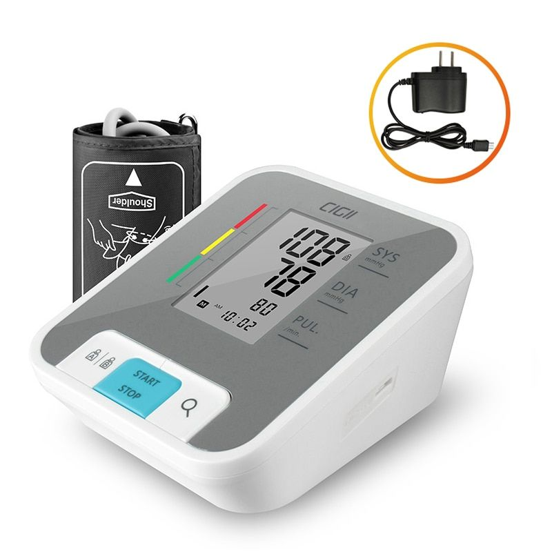 Cigii Home health care Pulse measurement tool Portable LCD digital <font><b>Upper</b></font> Arm Blood Pressure Monitor 1 Pcs Tonometer