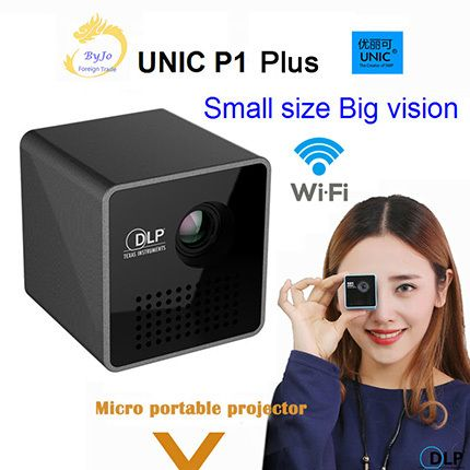 Original UNIC P1 Plus Wireless Mobile Projector Support Miracast DLNA Pocket Home Movie Projector Proyector Beamer Battery