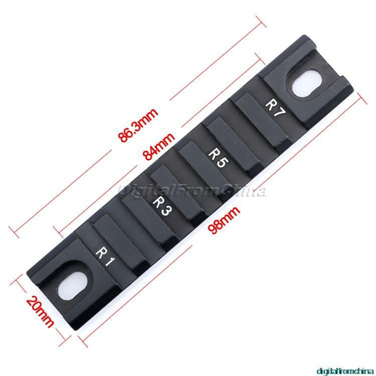 Hot 2 stücke DIY 20mm Weber Basis Picatinny RIS Kurze Schiene Rechts/Links Kurve Blei Schiene Für G36 G36C Handschutz Serie Jagd