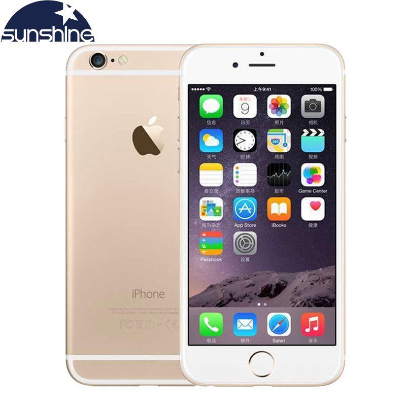 Unlocked Apple iPhone 6 4G LTE Cell phones 1GB RAM 16/64/128GB iOS 4.7' 8.0MP Dual Core WIFI IPS GPS Camera Used Phone
