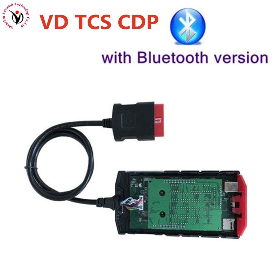 VD TCS CDP Pro Green PCB V9.0 2015.R3 keygen +Bluetooth OBD2 scanner diagnostic tool for cars trucks same as MVD Multidiag pro