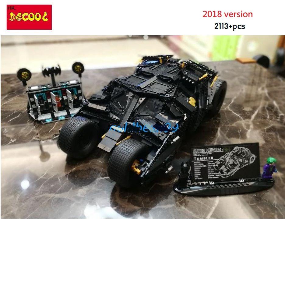 Decool 2018 7111 2113pcs The Tumbler + Prison Building Blocks Toys Gift for LEGO Batman 76023 for lepin Super Heroes 34005