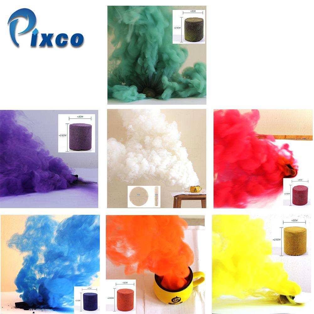 6 pcs Jaune + 1 blanc Fumée Effet pour Parties, fumée brouillard arrière horreur Studio Photographie Soutiens BRICOLAGE Fumée Gâteau