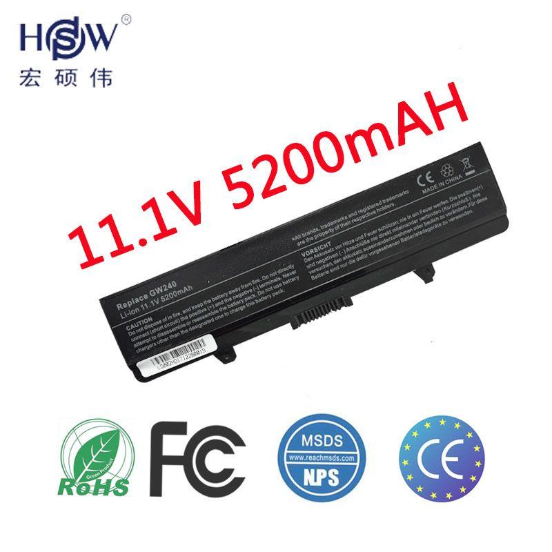 5200 mah Batterie d'ordinateur portable Pour Dell Inspiron rn873 1525 1526 1545 1546 1750 GW252 GW240 GP952 PP42L PP29L PP41L K450N d608H RU583