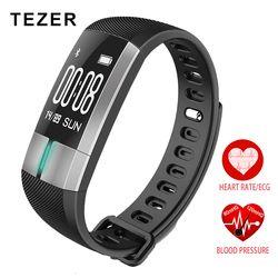 TEZER R20 ECG Real-time monitoring Blood pressure Heart Rate sport Smart Fitness Bracelet watch intelligent Activity Tracker