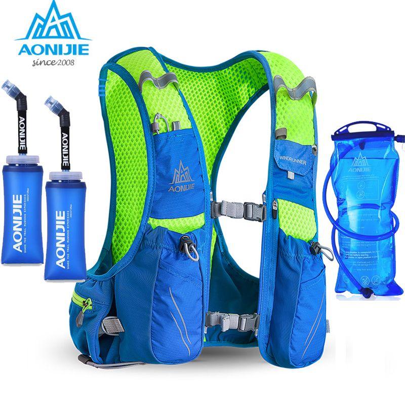 2018 AONIJIE E904S Nylon 10L Außen Taschen Wandern Rucksack Weste Professionelle Marathon Radfahren Rucksack für 1.5L Wasser Tasche