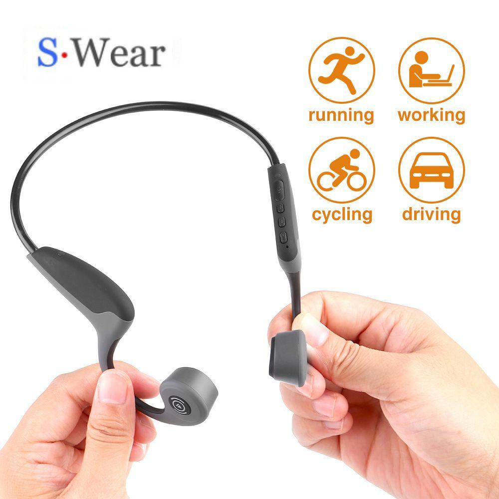 Bluetooth 5.0 S. Wear Z8 casque sans fil écouteurs à Conduction osseuse casque de Sport en plein air avec Microphone casques mains libres