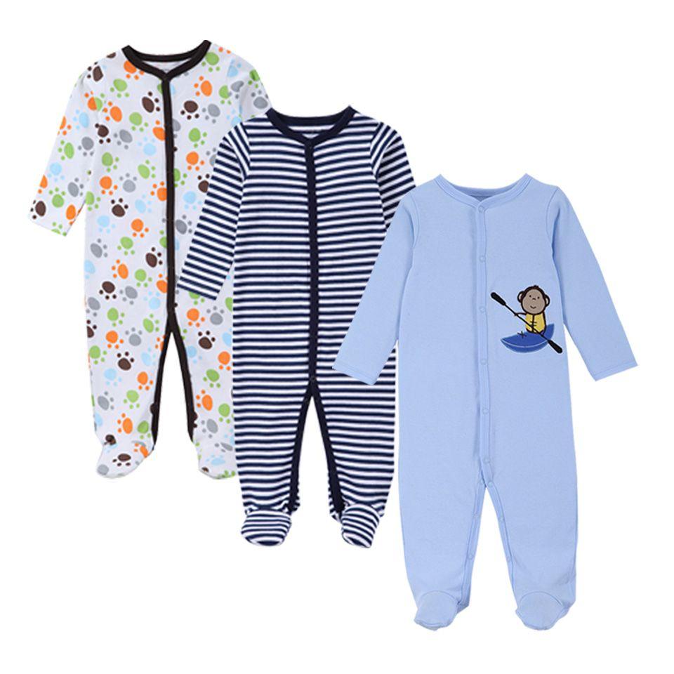 3 pièces/ensemble mode coton bébé barboteuses nouveau-né bébé ensembles vêtements à manches longues combinaison roupas infantis menino salopette rose