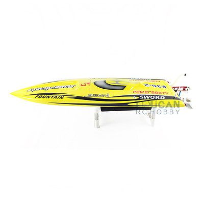 E36 PNP Sword Fiber Glass Racing Speed RC Boat W/1750kv Brushless Motor/120A ESC/Servo Boat Yellow