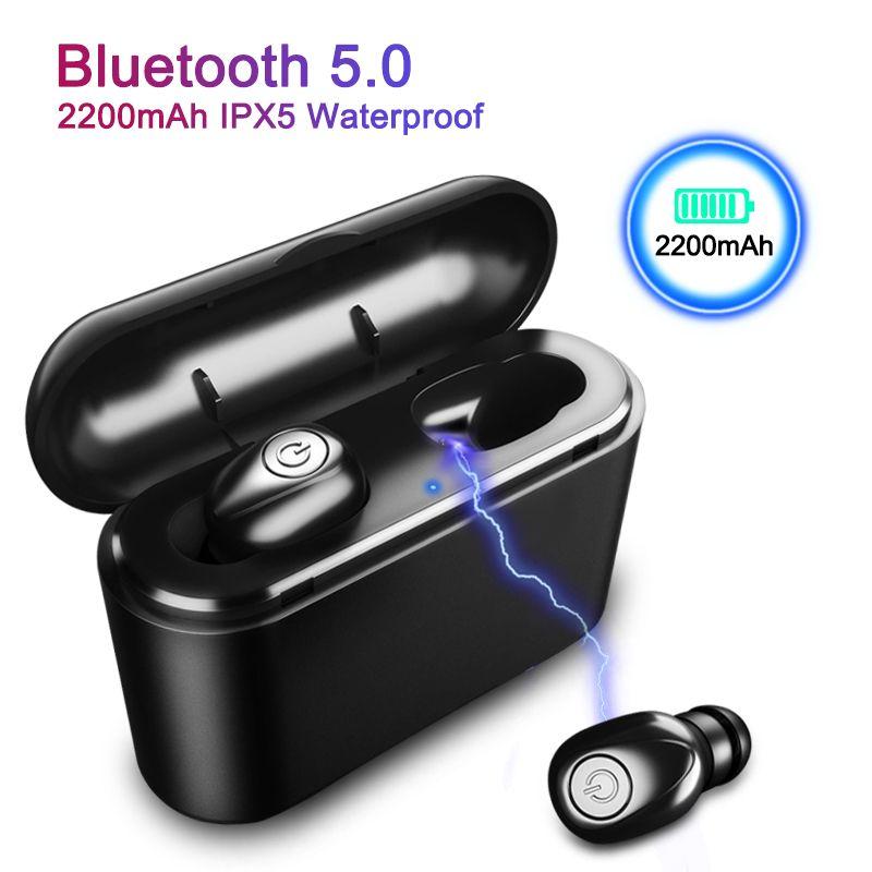 X8 TWS True Bluetooth écouteur 5D stéréo sans fil écouteurs Mini TWS étanche chapeaux avec boîte de charge 2200 mAh batterie externe