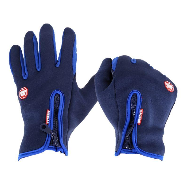 Winter Outdoor Sport Handschuhe Winddicht Warme Wasserdichte Männer Frauen Touchscreen Fleece Radfahren Handschuhe Vollfinger Fahrradhandschuhe