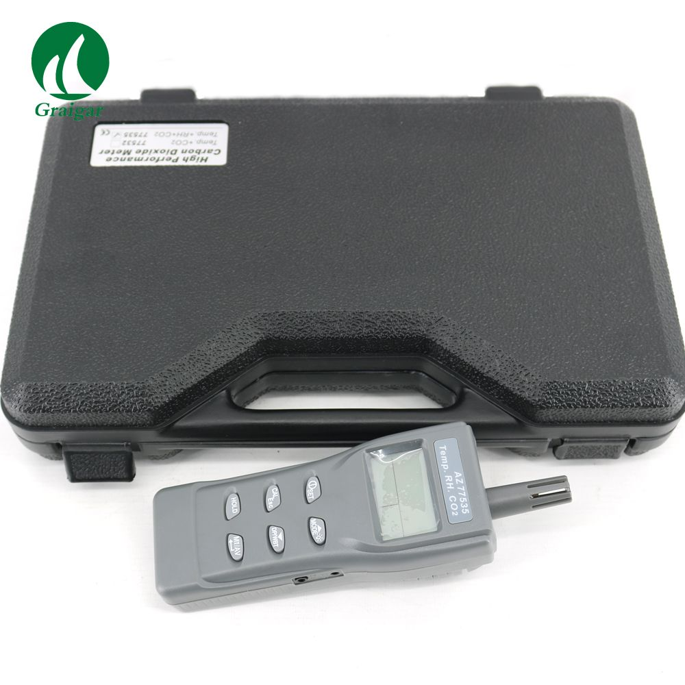 Handheld Kohlendioxid CO2 Detektor CO2/RH/Temperatur Meter AZ77535 Auflösung 1ppm