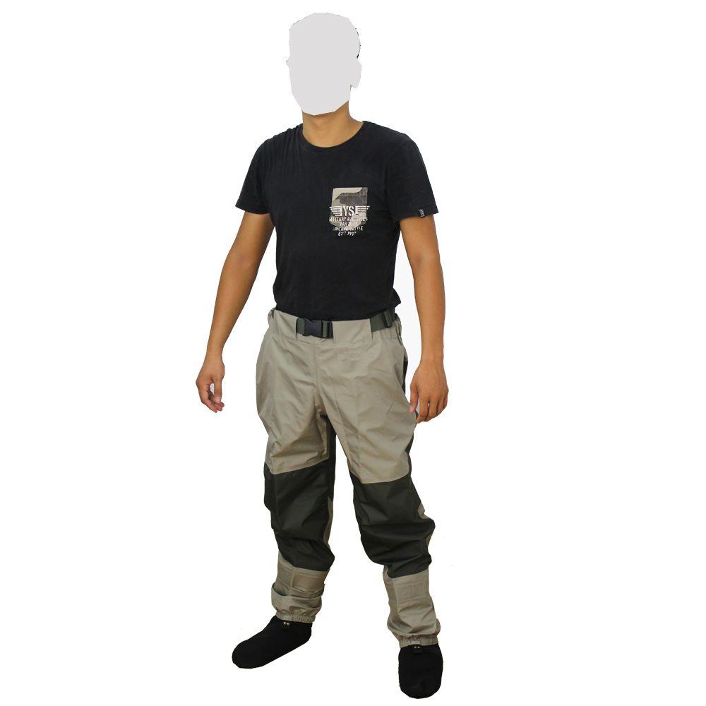 hot sale super light 1.2kg HQ waterproof elastic waist wader pants breathable fabric men women fishing sock jumpsuit trousers