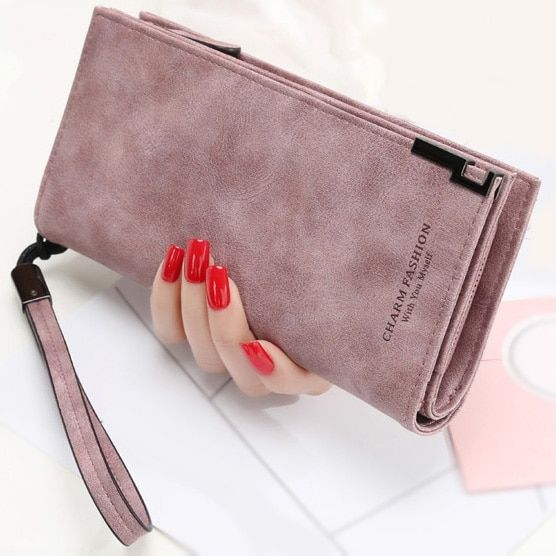 Femmes portefeuilles mode dame bracelet sacs à main Long argent sac Zipper pièce porte-monnaie cartes ID titulaire embrayage femme portefeuille Burse Notecase