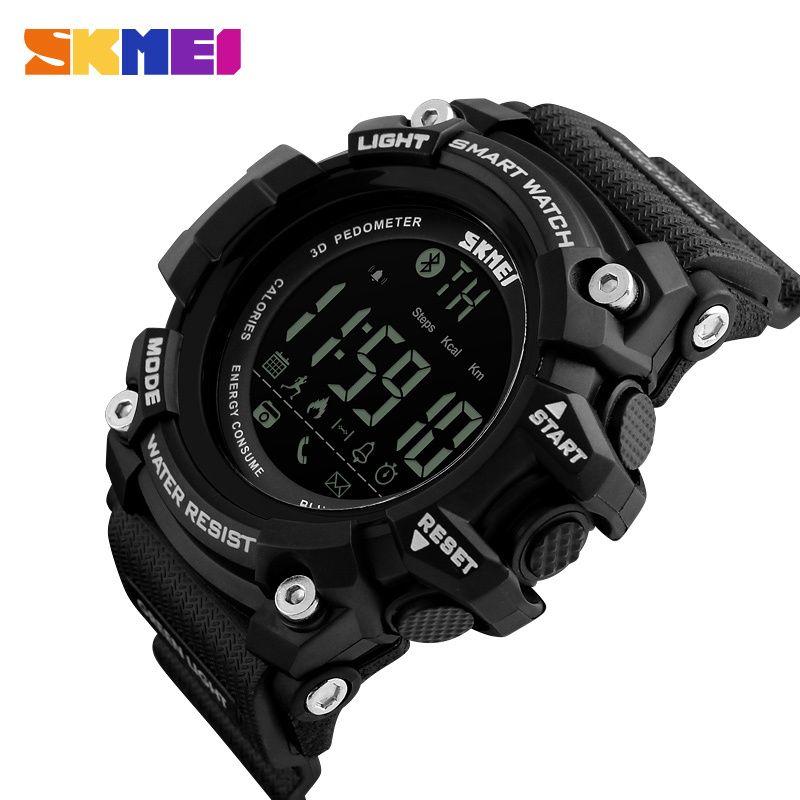 SKMEI sports de plein air montre intelligente hommes Bluetooth multifonction Fitness montres 5Bar étanche montre numérique reloj hombre 1227/1384