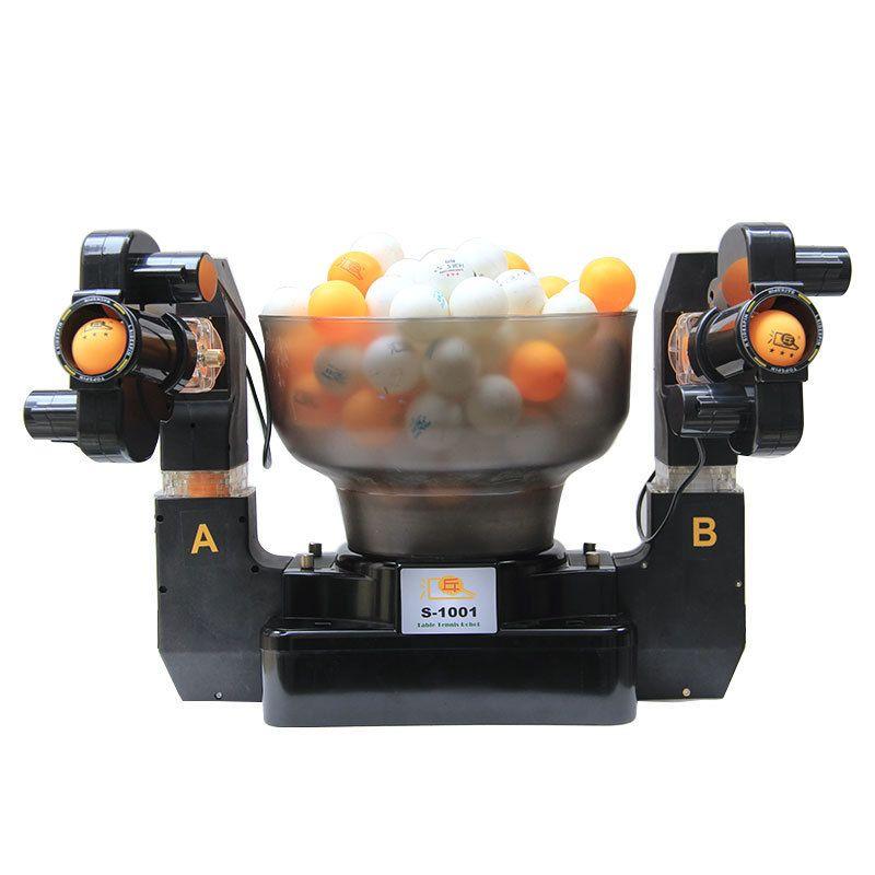 Tennis roboter doppelkopf automatische schießen Tischtennis Dienen Maschine üben maschine für anfänger geeignet für 40 + bälle