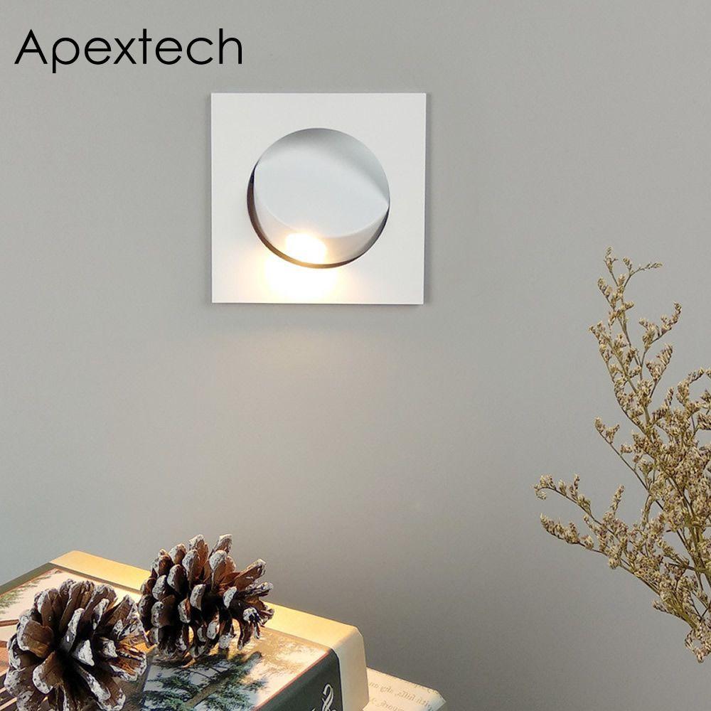 Apextech Einbau 3 W CREE LED Nacht Lesen Wand Lampe Moderne Nordic Stil Schlafzimmer Nacht Lichter Strahl Winkel Frei Einstellbar