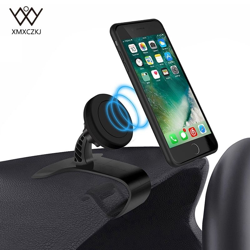 XMXCZKJ Car Phone Holder Stand Adjustable Clip Car Soft Anti Slip Mobile Phone Holder GPS Bracket For Car Magnet Holder