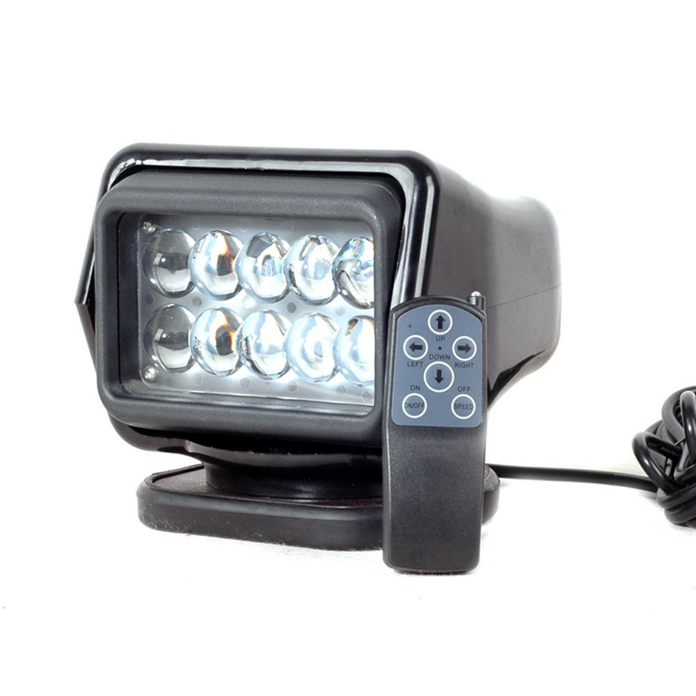 IP67 10-30V Remote control LED Searchlight 7inch 50W Spotlight LED Work Day Light TRUCK SUV BOAT MARINE driving light