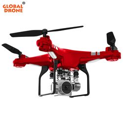 Global Drone GW-X2 RC Drone dengan 5MP Wide-Angle 1080 P HD 2.4G 4CH Remote Control Hover FPV Quadrocopter Vs SH5