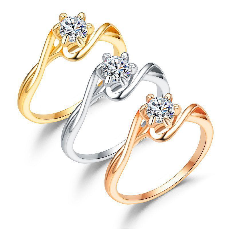 koraba women Zirconia Crystal Infinite Rings For Women 2018 Fashion Design Statement Rose Gold Sliver Color Ring Wedding Jewelry