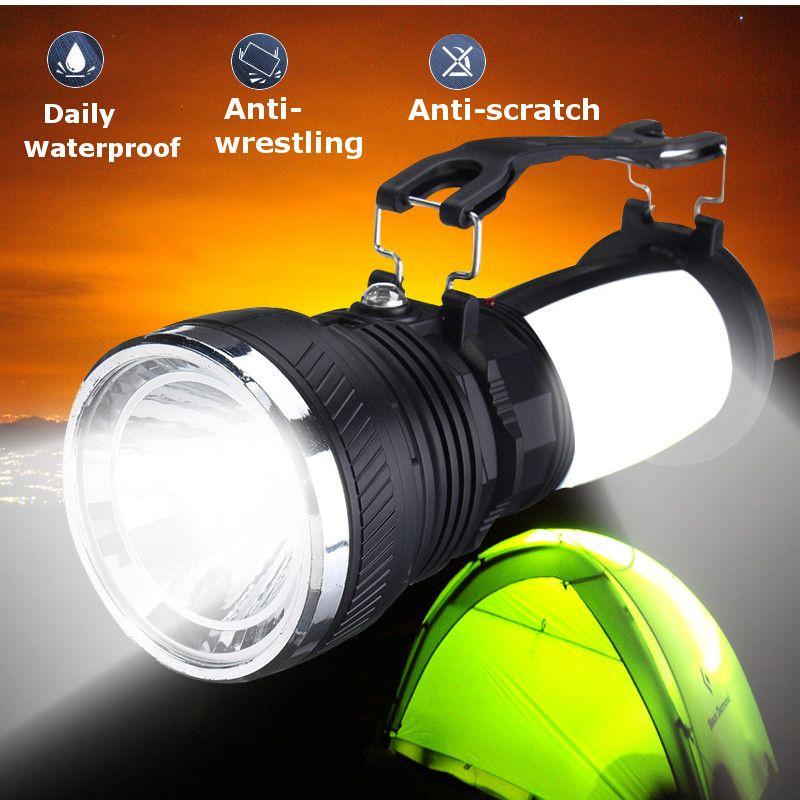 Portable LED Lanterns Light Solar Power Rechargeable Battery LED Flashlight Camping Tent Light Lantern Camping Lamp