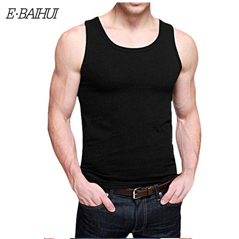 E-BAIHUI бренд Футболки Бодибилдинг мужчины Безрукавки для женщин хлопок повседневные мужские футболки майка Модная жилетка мужская Костюмы ...