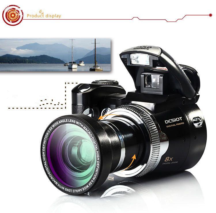 PROD510T 5.0MP CMOS 2.5 inch TFT LCD Screen Digital Camera 8X D Zoom Digital Cameras with LED Headlamp