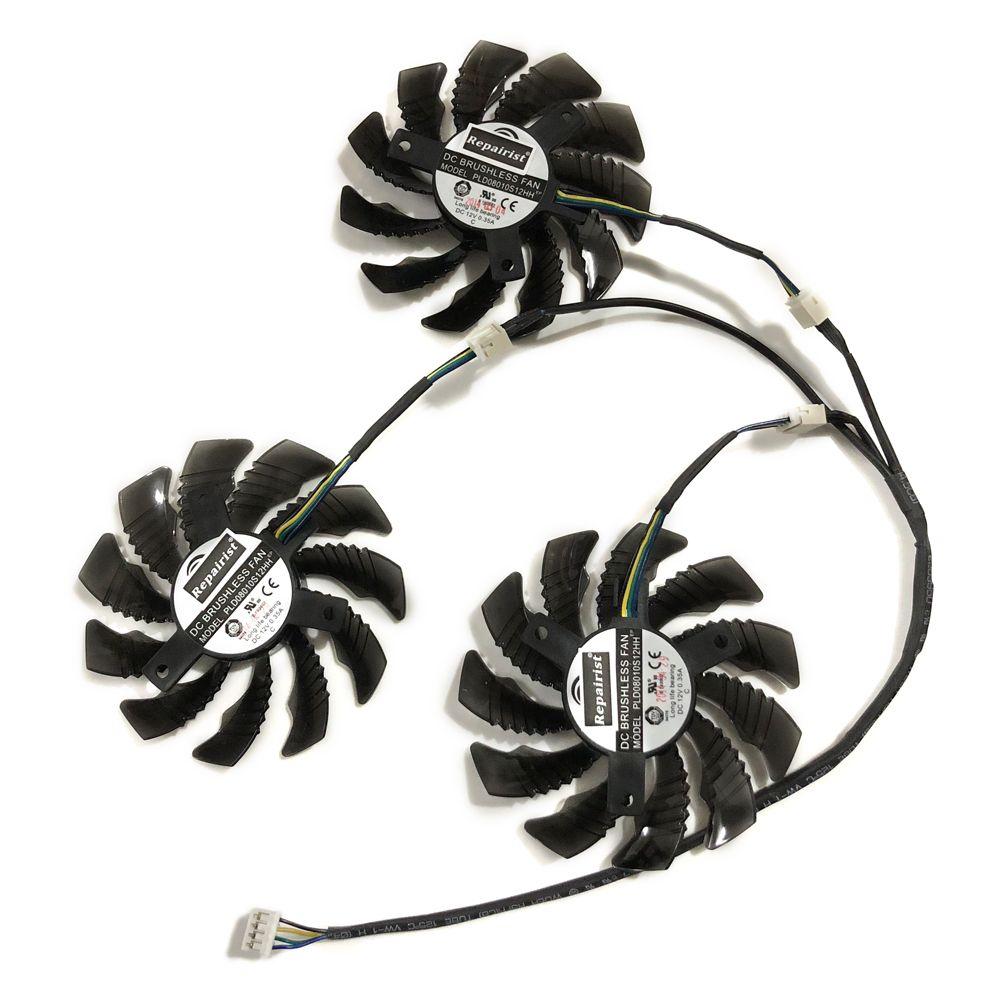 3 teile/satz PLD08010S12H GPU Karte Kühler Lüfter Für GIGABYTE GeForce GTX1080 Ti AORUS GTX 1060/1070 G1 Gaming Video Karten Kühlung