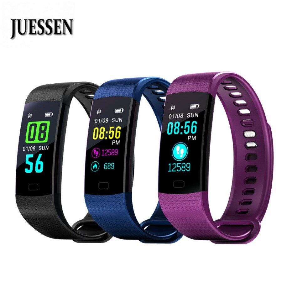 Hot Y5 Smart Wristband Sleep Tracker Watch Color Screen Electronics Fitness Tracker Bracelet Heart Rate Monitor PK mi band 3 2