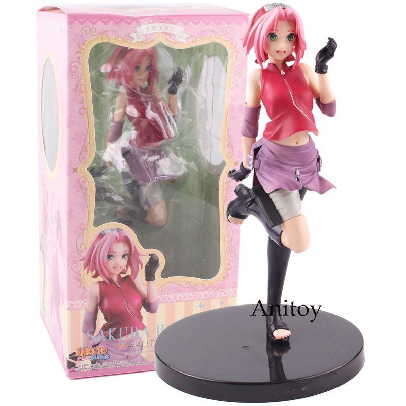 Naruto Shippuden Figure Naruto Gals Sakura Haruno Girls PVC Action Figure Collectible Model Toy 20.5cm