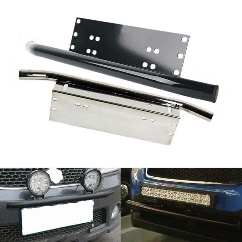 Mounting Brackets Bull Bar Bumper Front License Plate Mount Holder Bracket Black Off Road Offroad Work Light Led Bar <font><b>Driving</b></font>