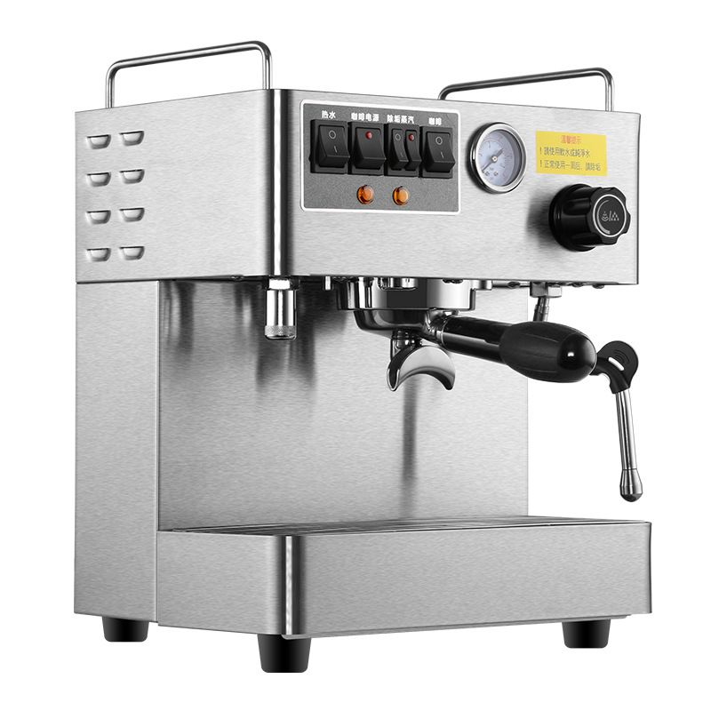 Commerical Office Espresso Coffee Machine Fully-Automatic 3000W Steam High Pressure Italian Coffee Maker