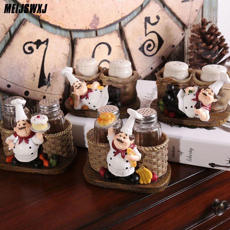 Mignon Chef poivre bouteille ornements décoration de la maison accessoires Artesanato Miniaturas Manualidades cuisine décoration résine artisanat