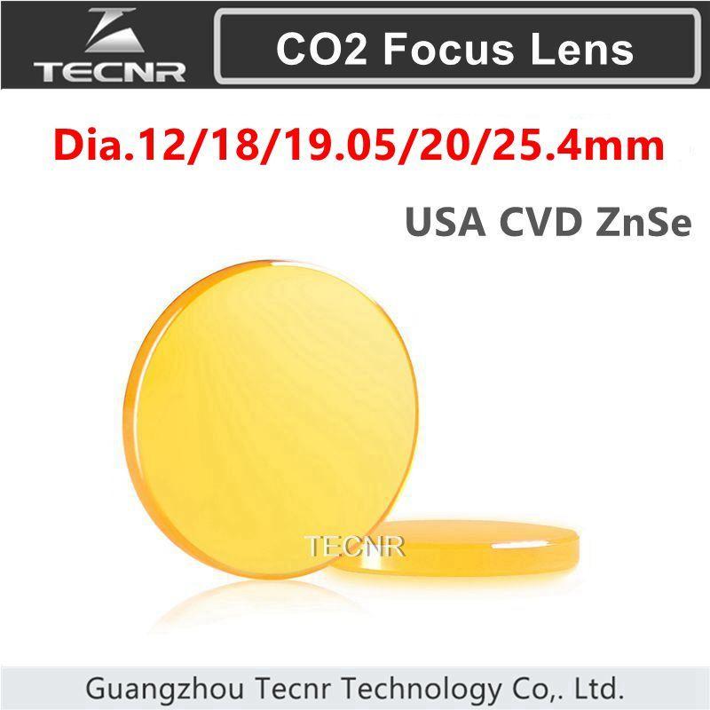 USA ZnSe Focus Lens Dia. 12-25.4mm FL 50.8 63.5 101.6 127mm 1.5-5