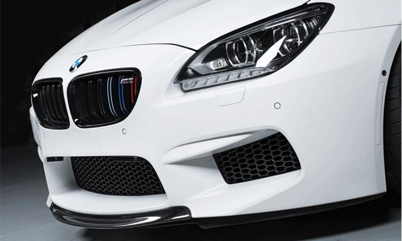 JIOYNG Carbon fiber Front Lip Bumper Spoiler Cover For BMW F06 F12 F13 640i 650i M-tech M-Sport M6 2013 2014 2015 2016 2017