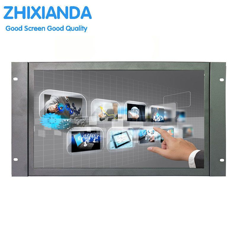 17,3 zoll großen touch-monitor open frame industrie-touch-monitor 1920*1080 hohe auflösung metall touch-monitor mit VGA/HDMI/USB