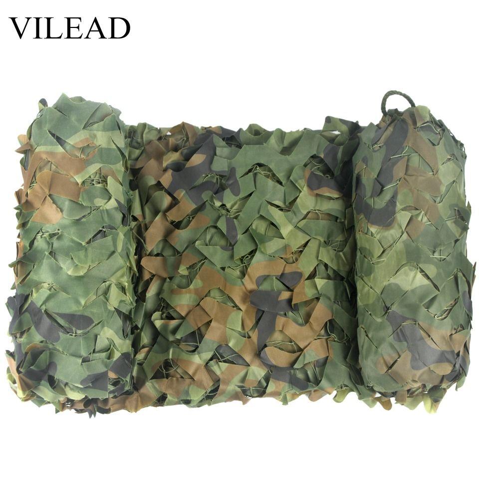 VILEAD 2 M * 4 M chasse militaire Camouflage filets forêt armée Camo filet Camping soleil abri tente ombre Net voiture auvent abri