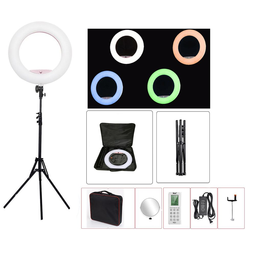 Yidoblo FC-480 RGB APP Control Ring Light LED Video Light Beauty nail skin Photography Movie Studio Ring lamp +tripod + bag