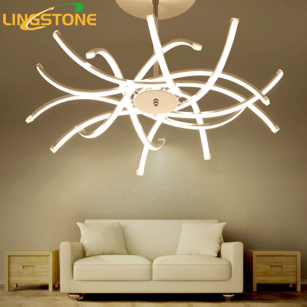 Led Chandelier Lighting Lustre Hanglamp Fixture Chrome Ceiling Plate Chandelier Lamp Living Room Bedroom Dining Room Restaurant