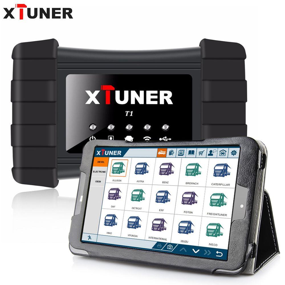 XTUNER T1 Heavy Duty Lkw Auto Intelligente Diagnose Werkzeug Unterstützung WIFI Lesen ECU Informationen, Lesen DTCs, löschen DTCs, ABS + WIN10 tablet