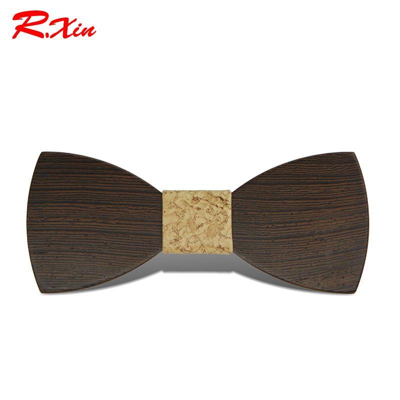 2016 Gravata Borboleta Adult Wood Bow Ties Hardwood Handmade Personality Accessory Ties For Men Butterfly Gravata Wooden Bow tie