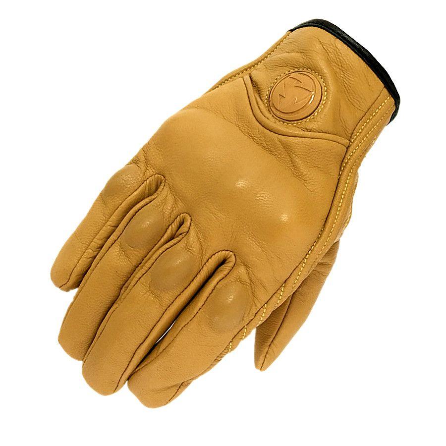 2018 Retro Verfolgung Echtem Leder Motorrad Handschuhe Guantes Moto touchscreen luva motociclista Schutz Gears Motocross Handschuh