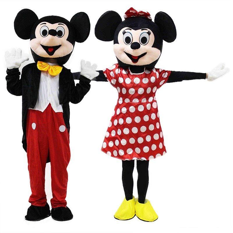 2018 Mignon Mickey Costume De Mascotte Rouge Costumes De Mascotte EPE Matériel de Bande Dessinée Imitation Vêtements Cosplay
