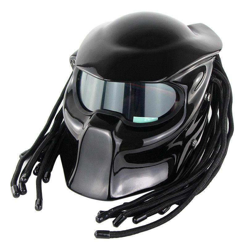 Overlord Predator Motorcycle Helmet Super Personality Braid Riding Helmet With Laser Light